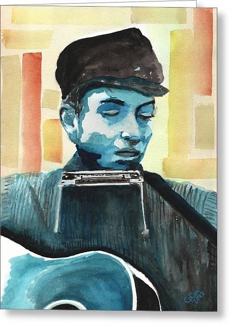 Bob Dylan Greeting Card by Chris Cox