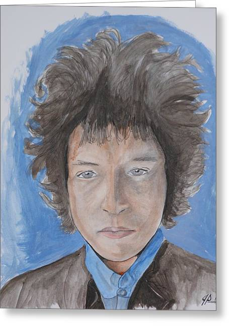Bob Dylan Greeting Card by Joseph Papale
