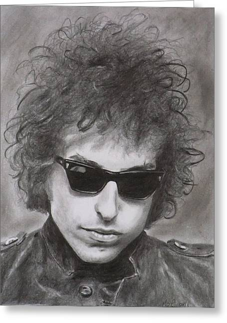 Bob Dylan Greeting Card by Mike OConnell