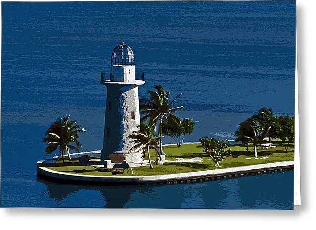 Boca Chita By Moonlight Greeting Card