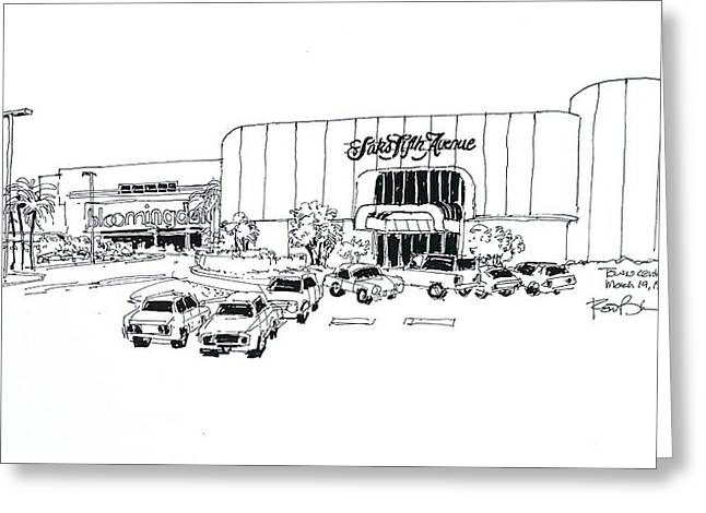 Boca Raton Town Center Mall Greeting Card by Robert Birkenes