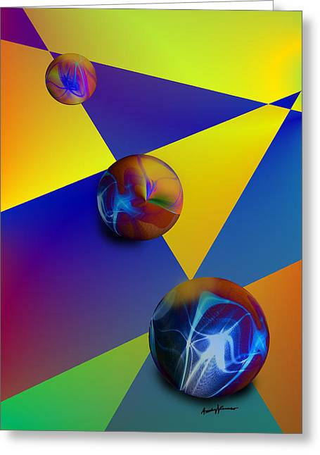Bocce Greeting Card by Anthony Caruso