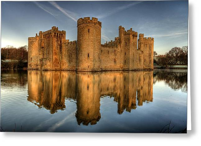 Bodiam Castle Greeting Card by Mark Leader