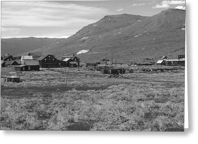 Bodie Cabins Greeting Card by Philip Tolok