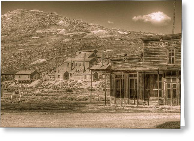 Bodie California Ghost Town Greeting Card by Scott McGuire