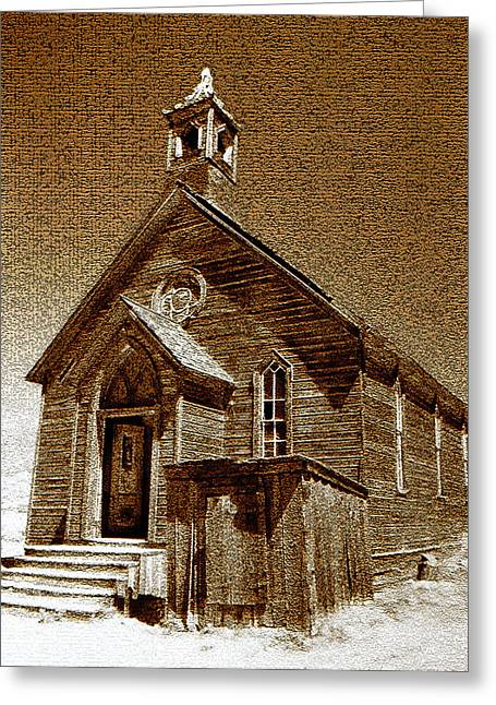 Bodie Church Greeting Card by David Lee Thompson