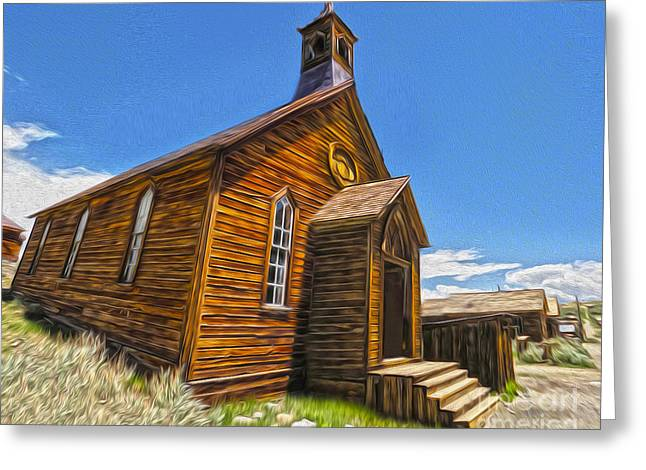 Bodie Ghost Town - Church 04 Greeting Card by Gregory Dyer