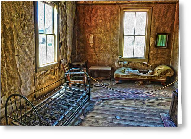 Bodie Ghost Town - Old House 03 Greeting Card by Gregory Dyer
