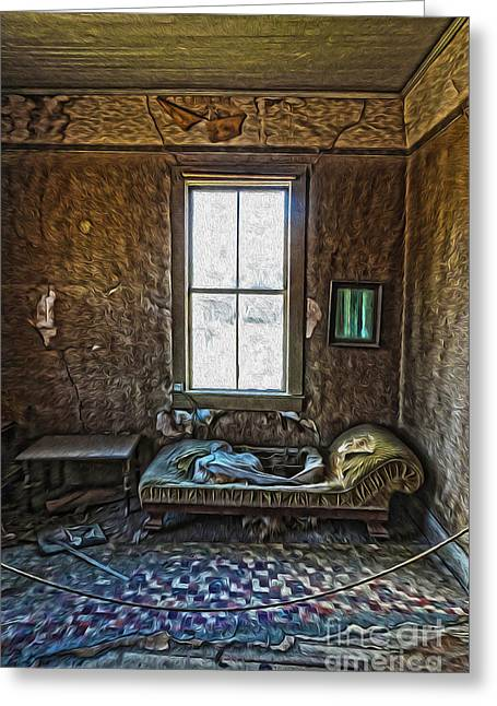 Bodie Ghost Town - Old House 04 Greeting Card by Gregory Dyer
