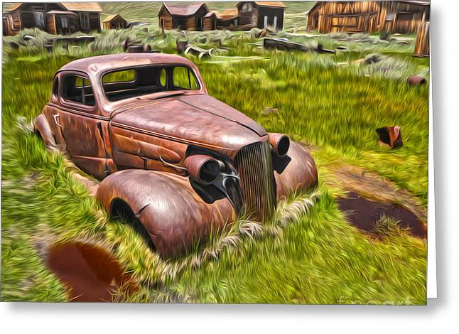 Bodie Ghost Town - Rusted Old Car 02 Greeting Card