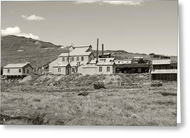 Bodie Ghost Town California Gold Mine Greeting Card by Philip Tolok