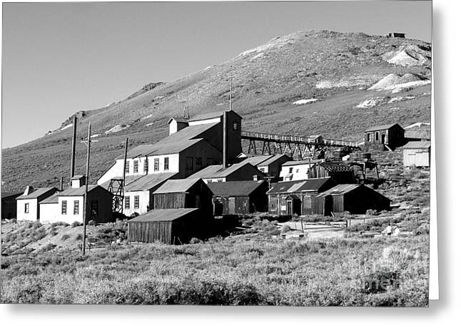 Greeting Card featuring the photograph Bodie Ghost Town by Jim McCain