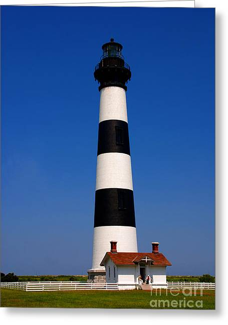Bodie Island Lighthouse Outer Banks Nc Greeting Card by Susanne Van Hulst
