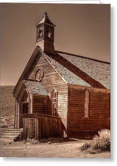 Bodie State Historic Park California Church Greeting Card by Scott McGuire