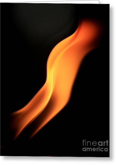 Body Of Fire Greeting Card by Arie Arik Chen