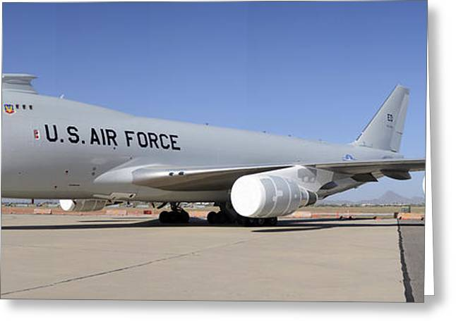 Boeing Yal-1a Airborne Laser Testbed Davis-monthan Afb April 15 2012 Greeting Card by Brian Lockett