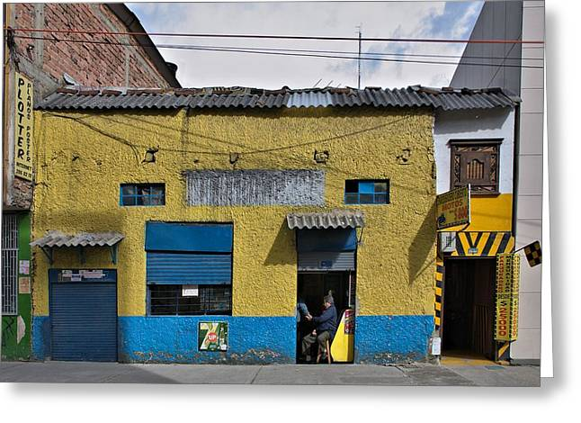 Greeting Card featuring the photograph Bogota Shop by Steven Richman