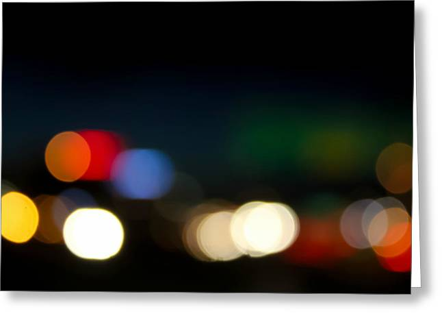 Bokeh Light Greeting Card