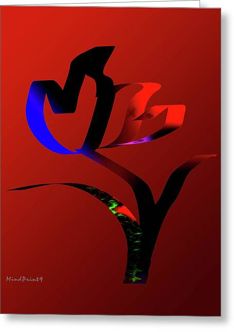 Greeting Card featuring the digital art Bold And Beautiful by Asok Mukhopadhyay