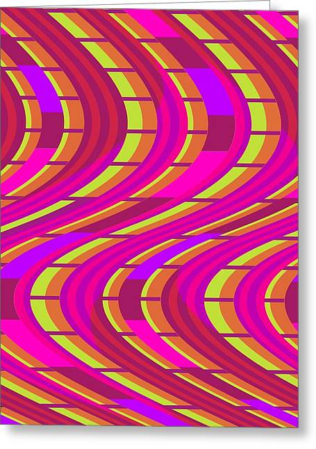 Bold Swirl  Greeting Card by Louisa Knight