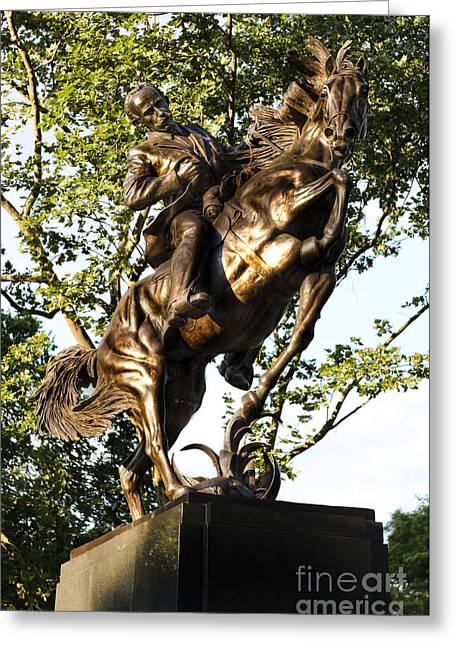 Bolivar Plaza Jose Marti Equestrian Statue Greeting Card