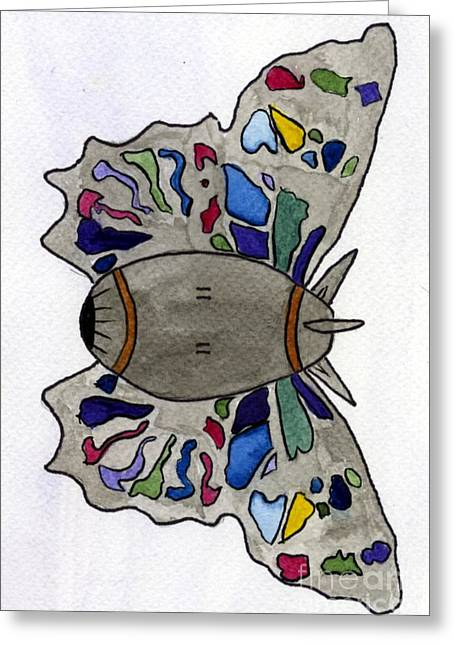 Bomb Butterfly Greeting Card