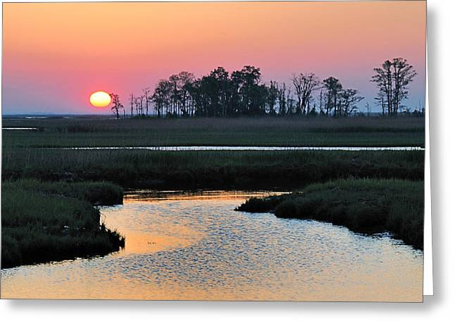 Bombay Hook Sunrise Greeting Card