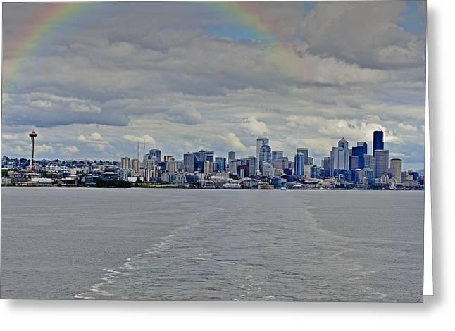 Bon Voyage Seattle Greeting Card
