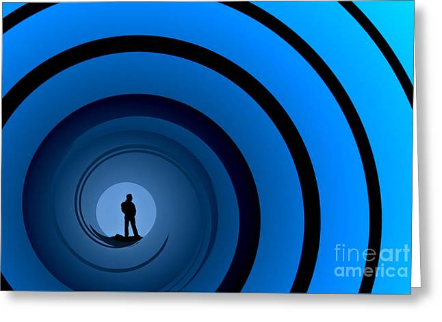 Bond Man Greeting Card by Steve Purnell