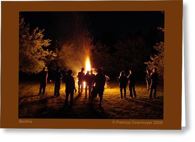Bonfire Greeting Card by Patricia Overmoyer