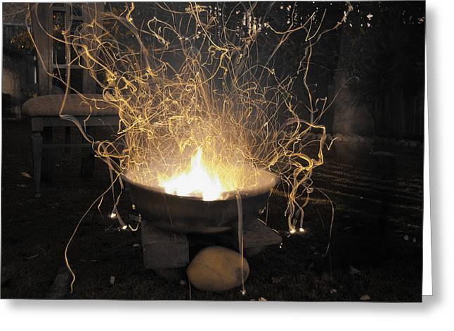 Bonfire Greeting Card by Sumit Mehndiratta