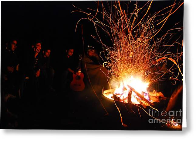Bonfire Greeting Card by Syed Aqueel