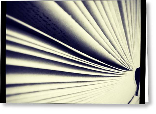 #book #reading #pages #photooftheday Greeting Card by Ritchie Garrod