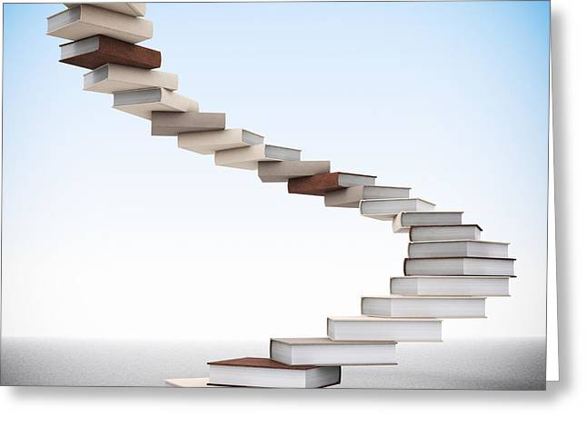 Book Stair Greeting Card