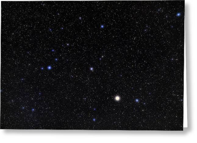 Bootes Constellation Greeting Card by Eckhard Slawik