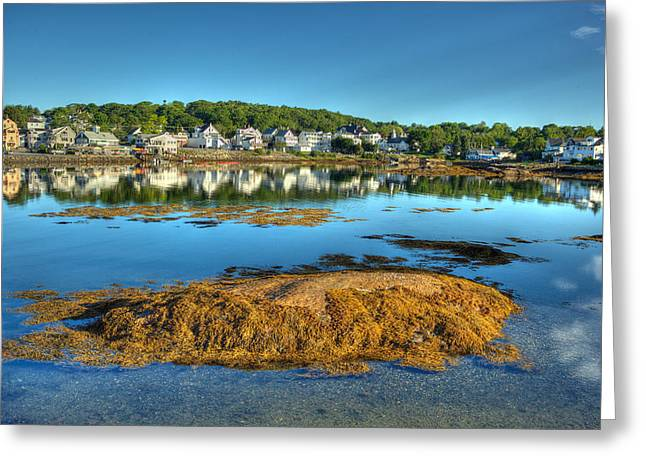 Boothbay Harbor Greeting Card by Ron St Jean