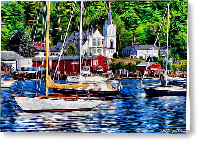Boothbay Harbor Greeting Card by Stephen Younts
