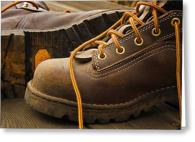 Boots Made For Working Greeting Card