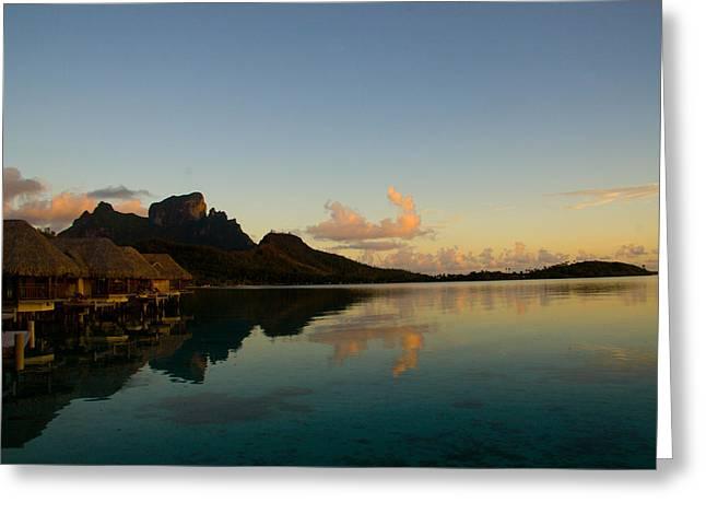 Bora Bora Dawn Greeting Card by Benjamin Clark