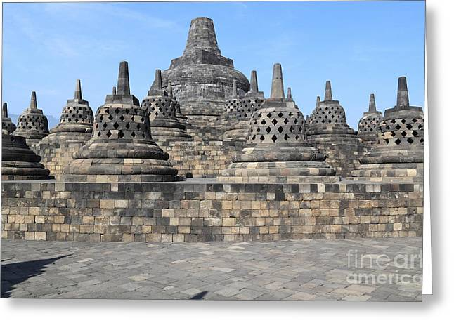 Borobudur Mahayana Buddhist Monument Greeting Card by Mark Taylor