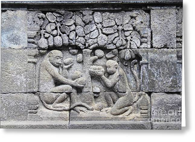 Borobudur Mahayana Buddhist Temple Greeting Card by Mark Taylor