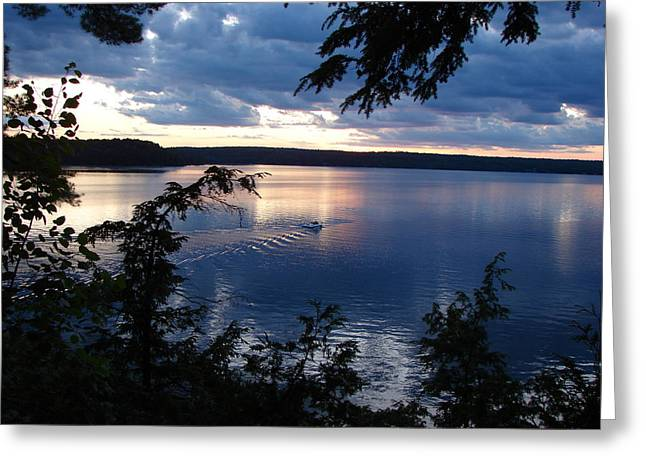 Boshkung Lake Sunset Greeting Card by Bruce Ritchie