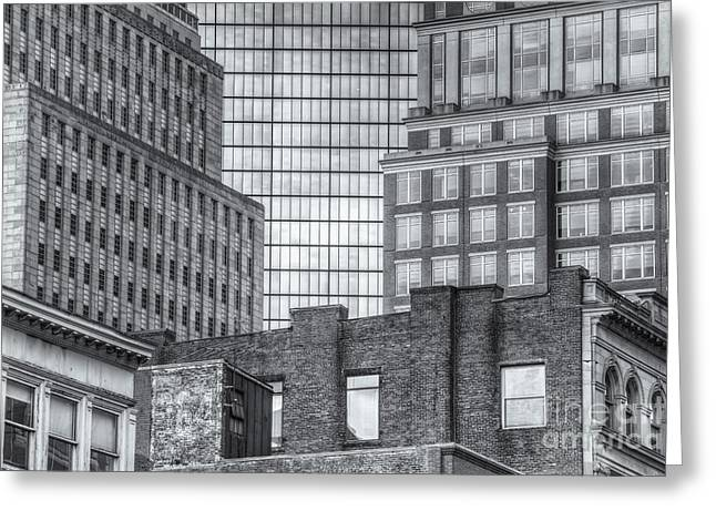 Boston Building Facades II Greeting Card by Clarence Holmes