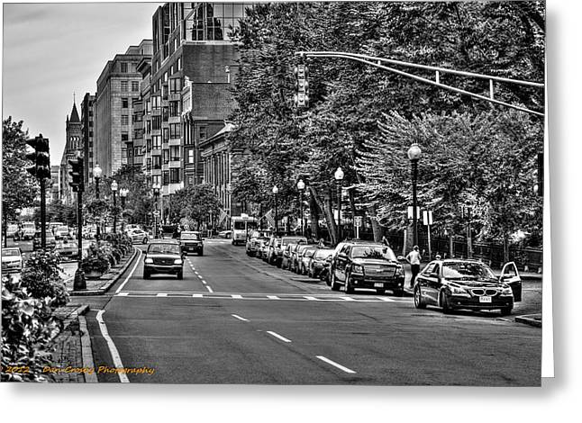 Boston City Scape Greeting Card by Dan Crosby