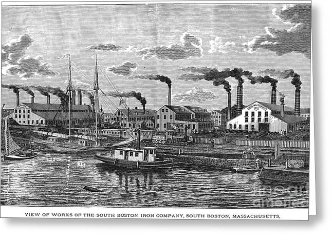 Boston: Iron Foundry, 1876 Greeting Card by Granger