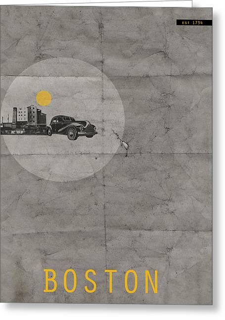 Boston Poster Greeting Card
