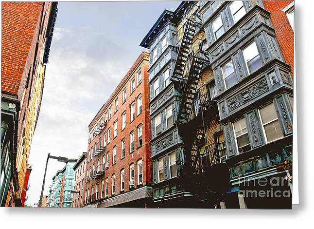 Boston Street Greeting Card by Elena Elisseeva