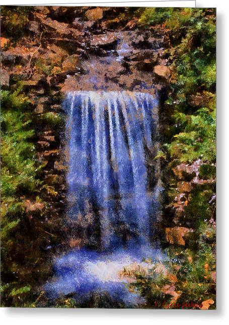 Botanical Garden Falls Greeting Card by Lynne Jenkins