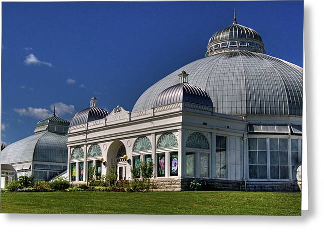 Greeting Card featuring the photograph Botanical Gardens Hot House by Don Nieman