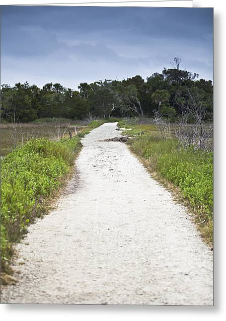 Botany Bay Pathway - Vertical Greeting Card